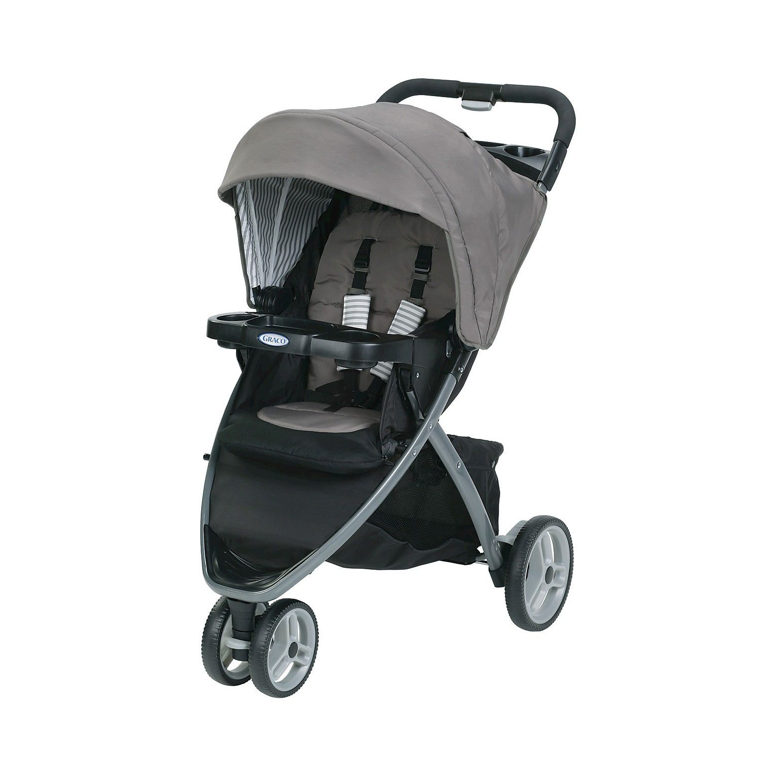 The Graco Pace Click Connect Stroller features a three