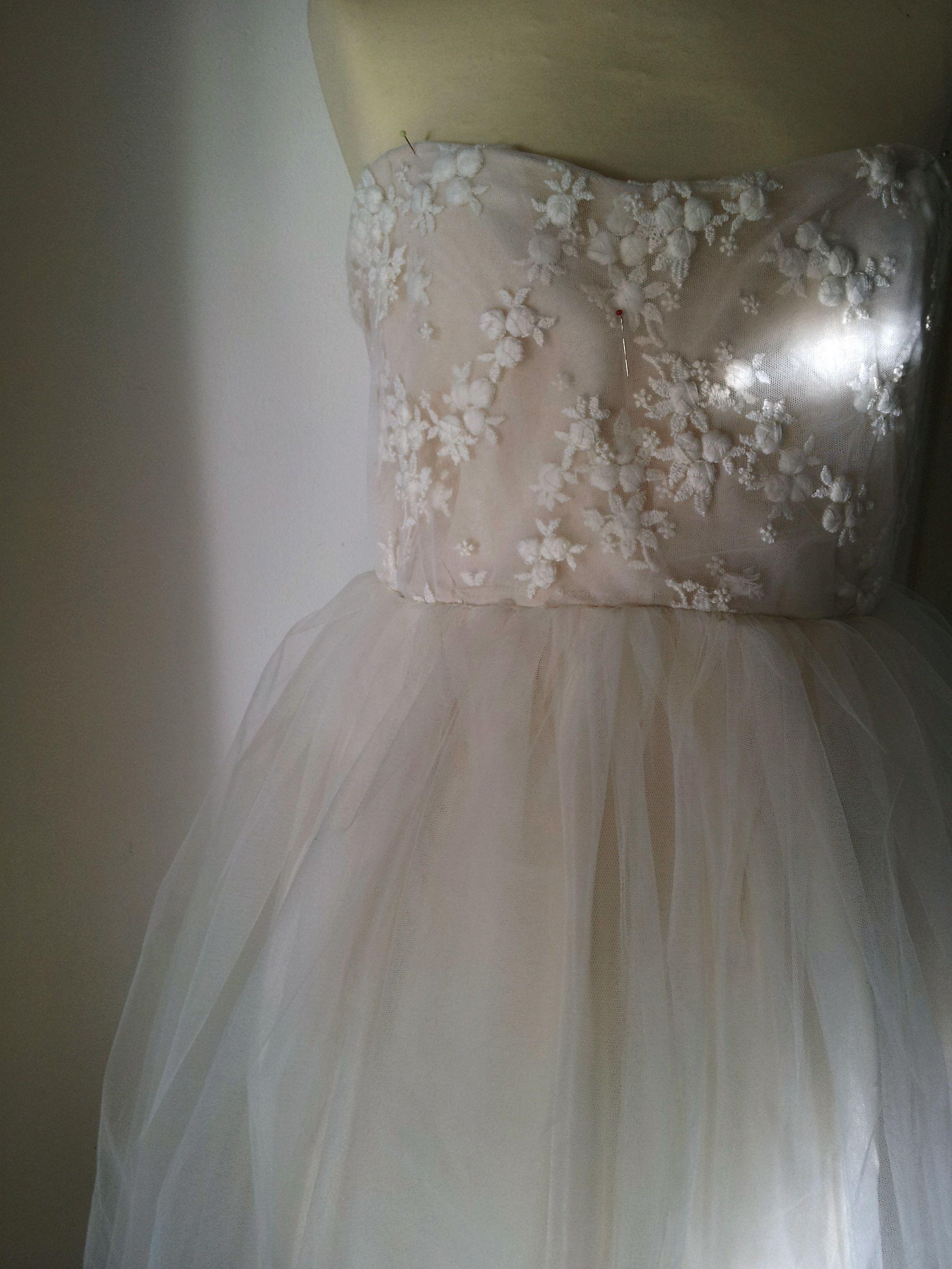 making of wedding dress