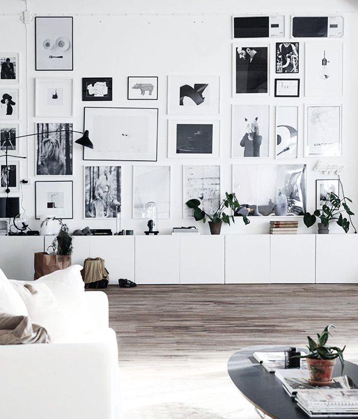 15 snygga sätt att inreda med Ikeas Bestå Favorite Gallery Wall - wohnzimmer ideen grau
