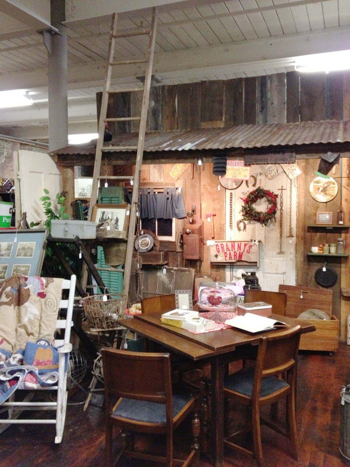 Plank Wall With Rusty Corrugated Tin Roof Barn Kitchen Booth