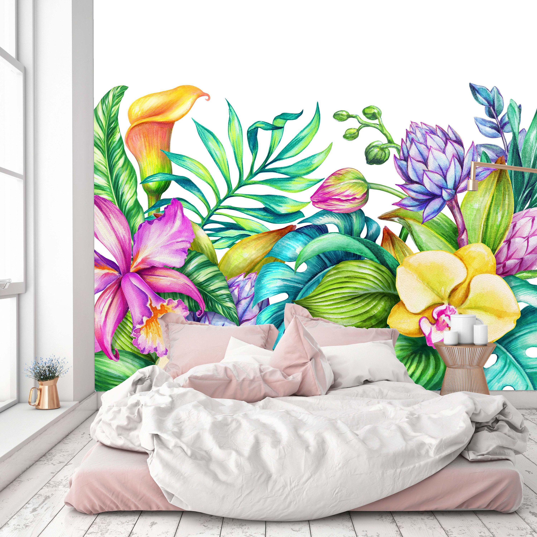 Removable Wallpaper Mural Peel Stick Paradise Nature Etsy Mural Wallpaper Mural Removable Wallpaper
