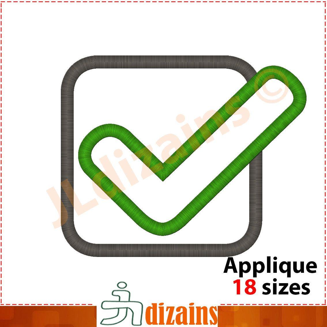 Checkbox Applique Design  Machine Embroidery Design