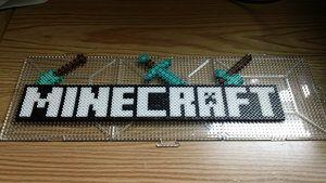 Perler Beads Minecraft Logo (Pre-Fused) by ~Dahme on deviantART