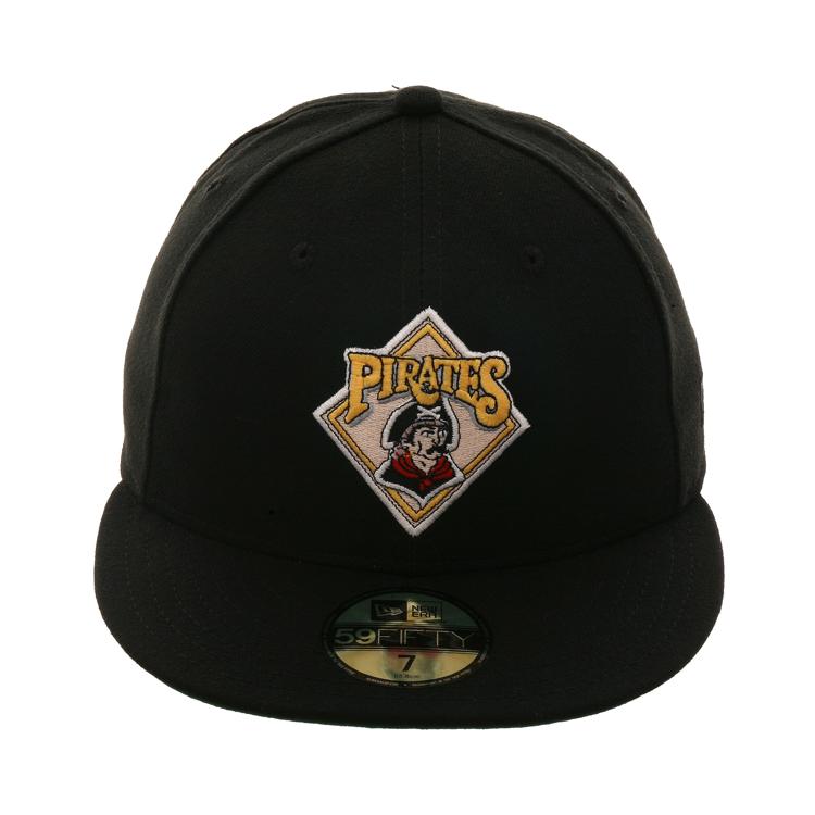 low priced a6e4b 24c8e Exclusive New Era 59Fifty Pirates 1987 Logo Hat - Black,   39.99