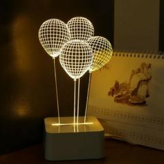 Lampe De Table Ballon Illusion D Optique 3d Eclairage Led Abat Jour Eclairage Led Lampes De Table Et Veilleuse