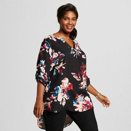 f08000eafbd979 Women's Plus Size Split Neck Blouse - Ava & Viv ™ : Target   Target ...