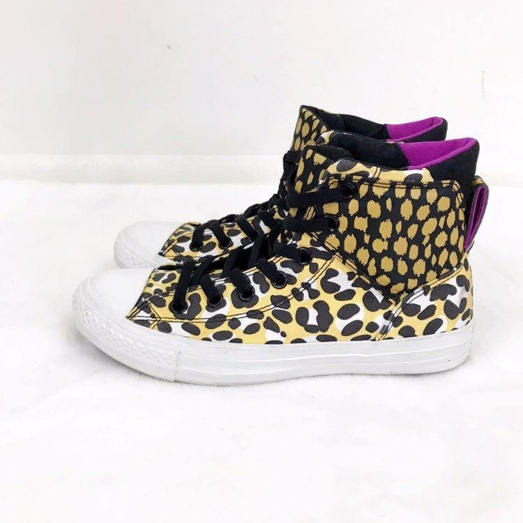 fun leopard print converse. Worn once