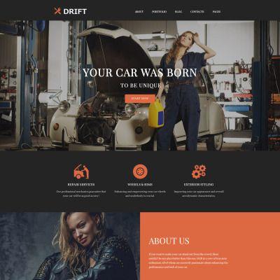Drift - Car Service WordPress Theme | Tema de wordpress, El mapa y ...
