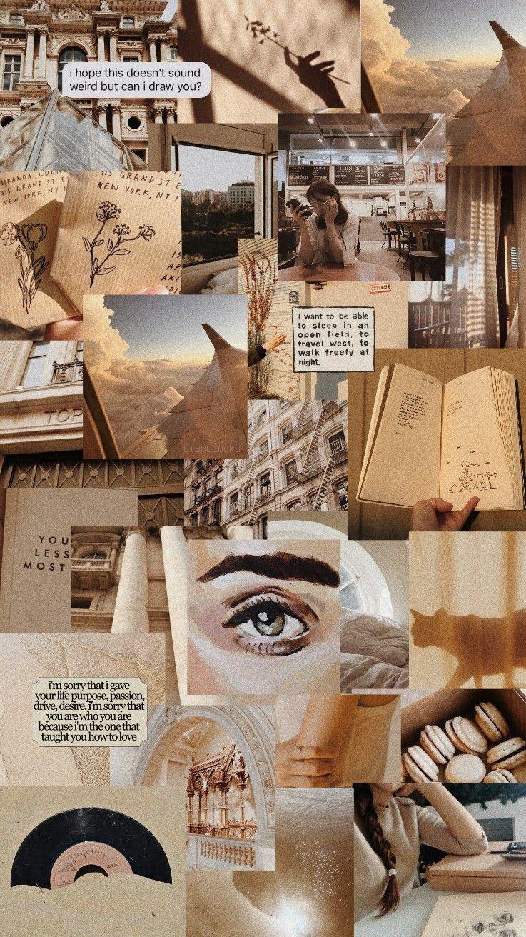 lockscreen beige aesthetic iphone wallpaper iphone