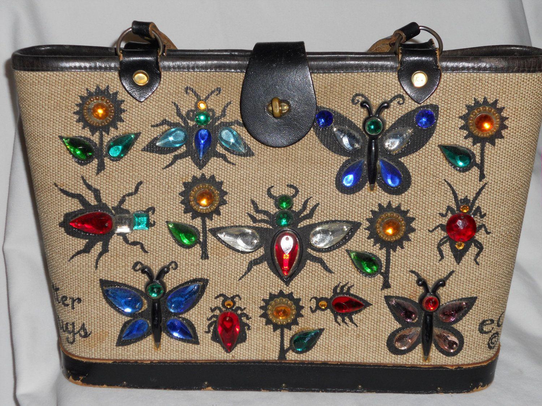 "Vintage 60 's Enid Collin ""Glitter Bug"" Purse. $100.00"