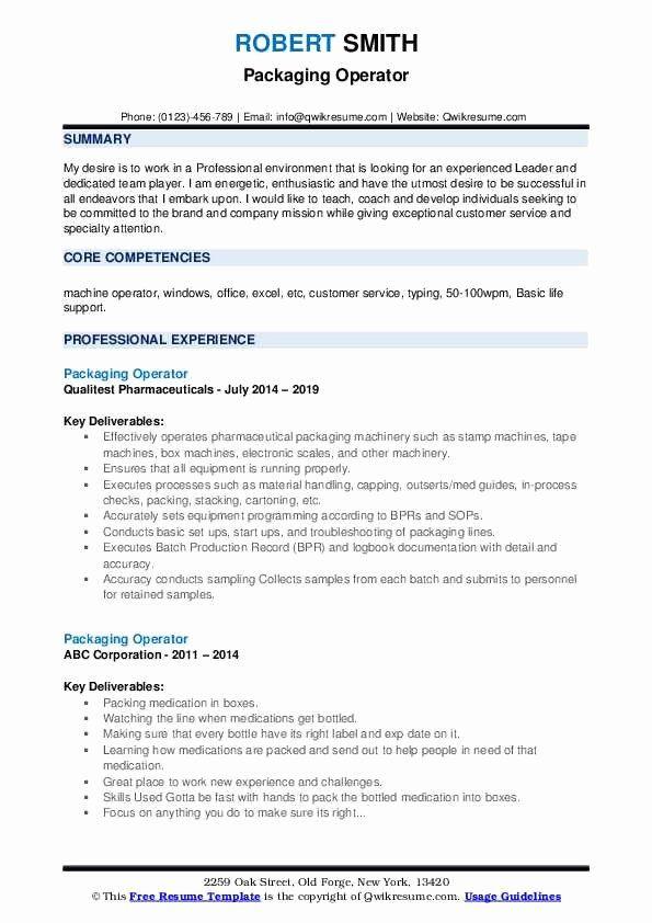23 machine operator resume example in 2020  resume