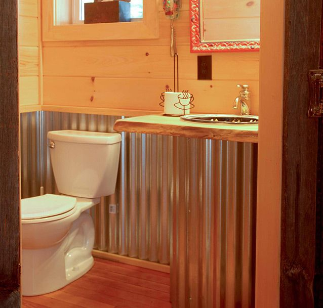 Low Basement Bar Ideas: Corrugated Metal Shower - Google Search
