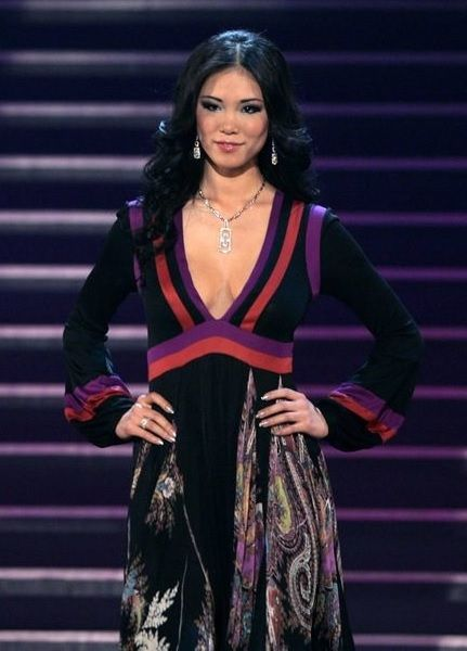 Riyo Mori Miss Universe 2007 evening gown cropped | Clothes ...