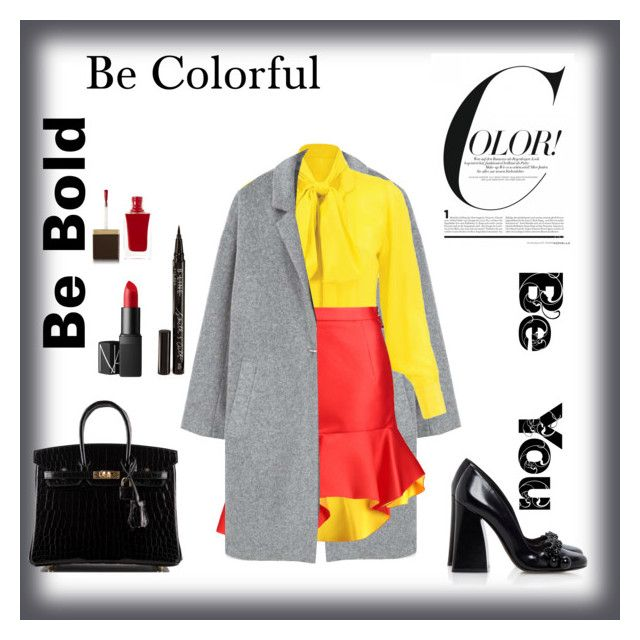 """Bebold#beBeautiful#BeYou"" by zinka-kartinka on Polyvore featuring MANGO, Preen, Tory Burch, Hermès, NARS Cosmetics, Tom Ford and Smith & Cult"