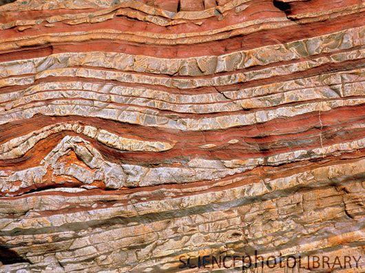 Banded rock: ironstone rock strata from Australia E410 ...