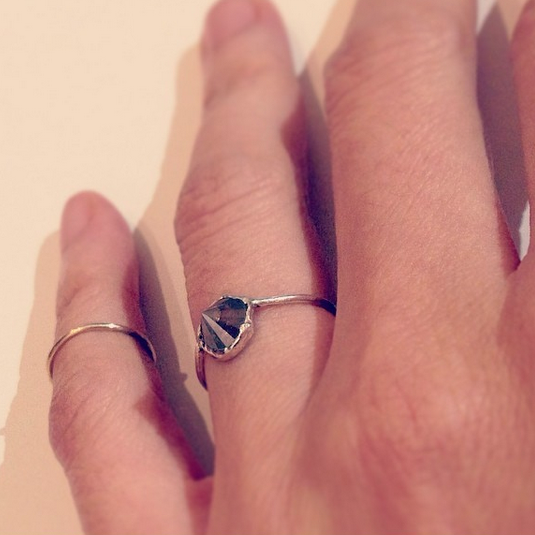Raw Inverted Diamond Ring   Fine Elegance   Pinterest   Carrie