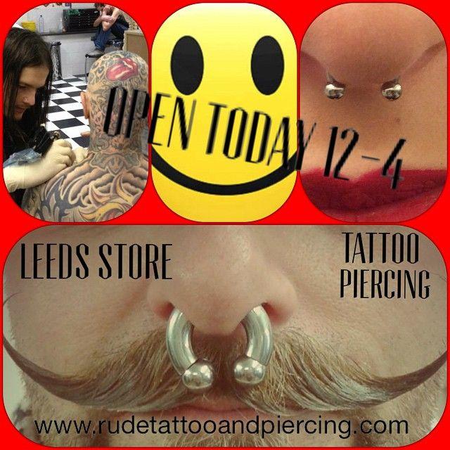 #open #Sunday #tattooleeds #piercingleeds #bodymodification #bodyjewellery #sale #discount #shopping #piercing #plugs #stretcher #jewellery #rudestudios #leeds