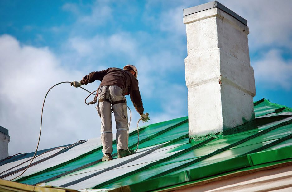 With The Ability To Paint Multiple Roofing Colours And Materials We Are The Affordable Way To Get A New Roof Look Witho Roof Paint Painting Services Roof S
