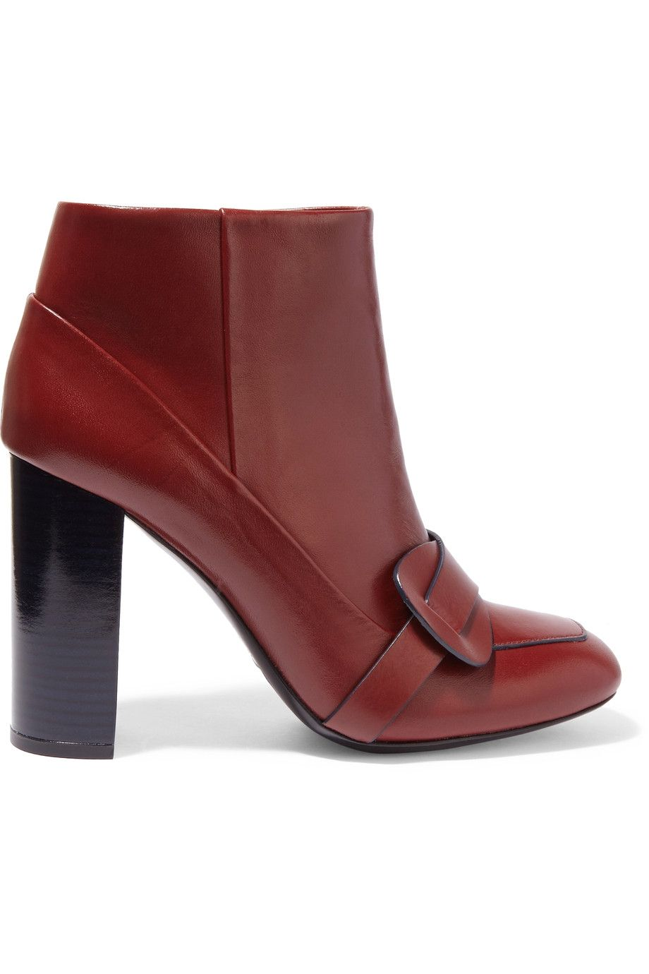 Shop on-sale Tory Burch Bond leather ankle boots. Browse other discount  designer Boots & more on The Most Fashionable Fashion Outlet, THE OUTNET.