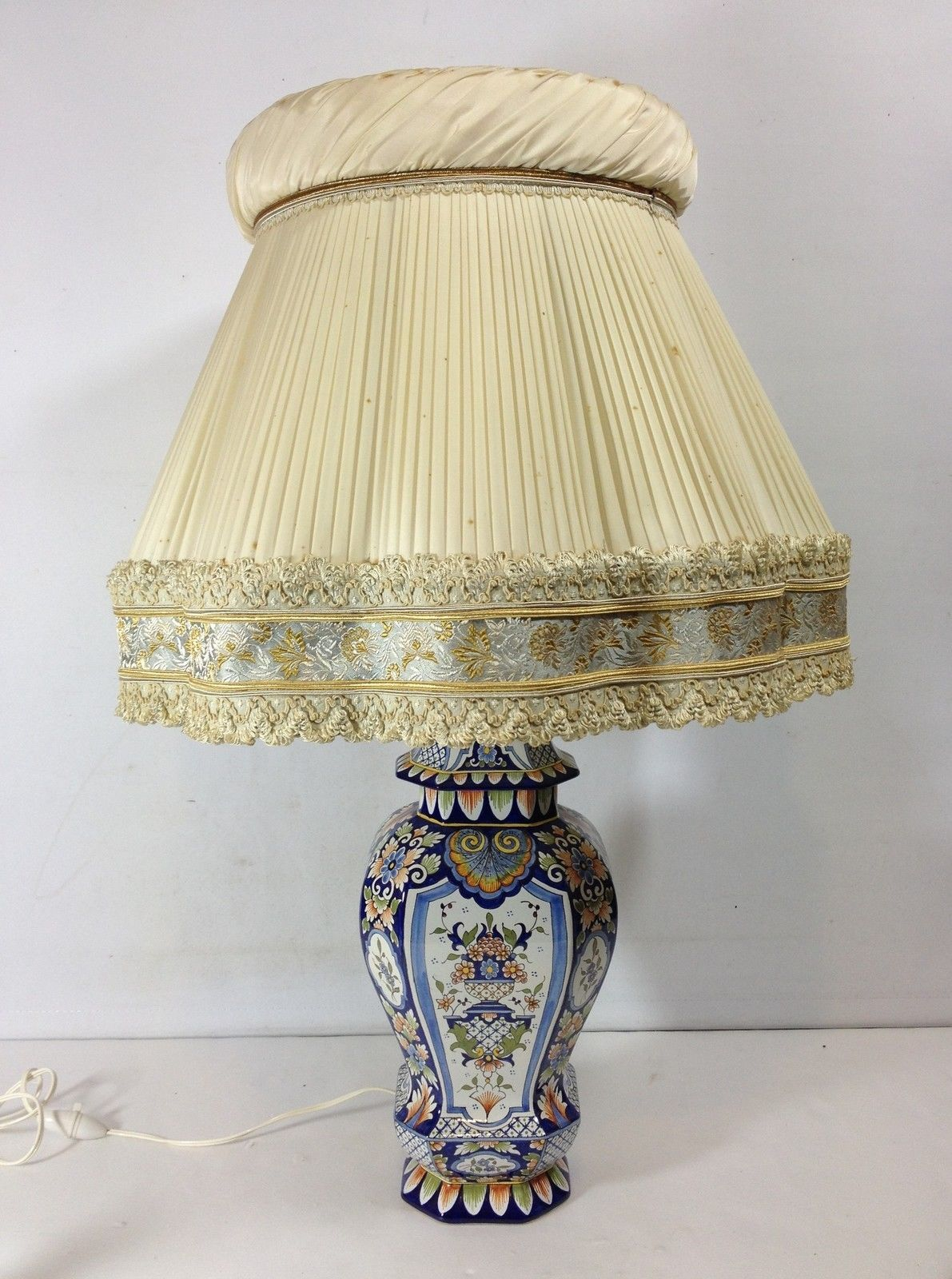 Potiche pied de lampe en faience de rouen ebay faience for Fabriquer un abat jour en tissu