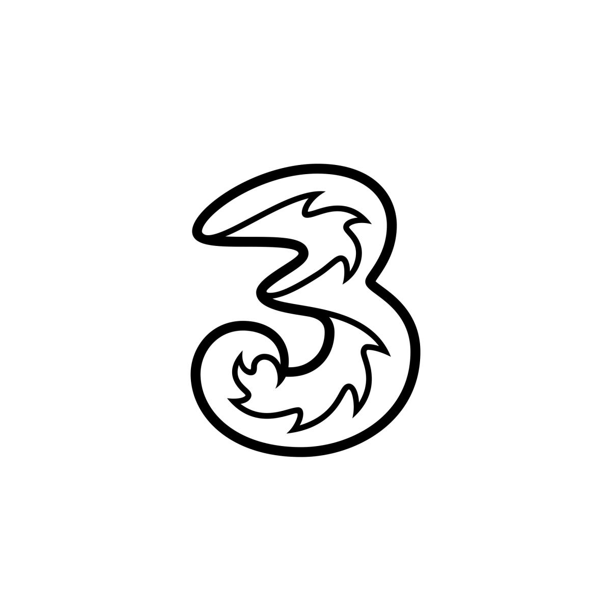 Three Logo United Kingdom Logo Number Three Logo Number 3