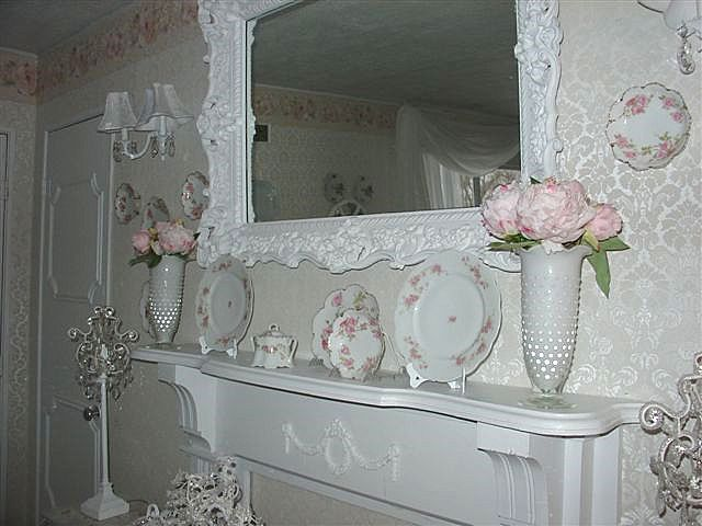 mantel of the month enchanted treasures shabby chic. Black Bedroom Furniture Sets. Home Design Ideas