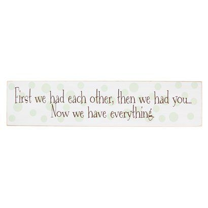 "White/Green/Brown ""First We Had Each Other"" Wall Decor 24"".Opens in a new window"