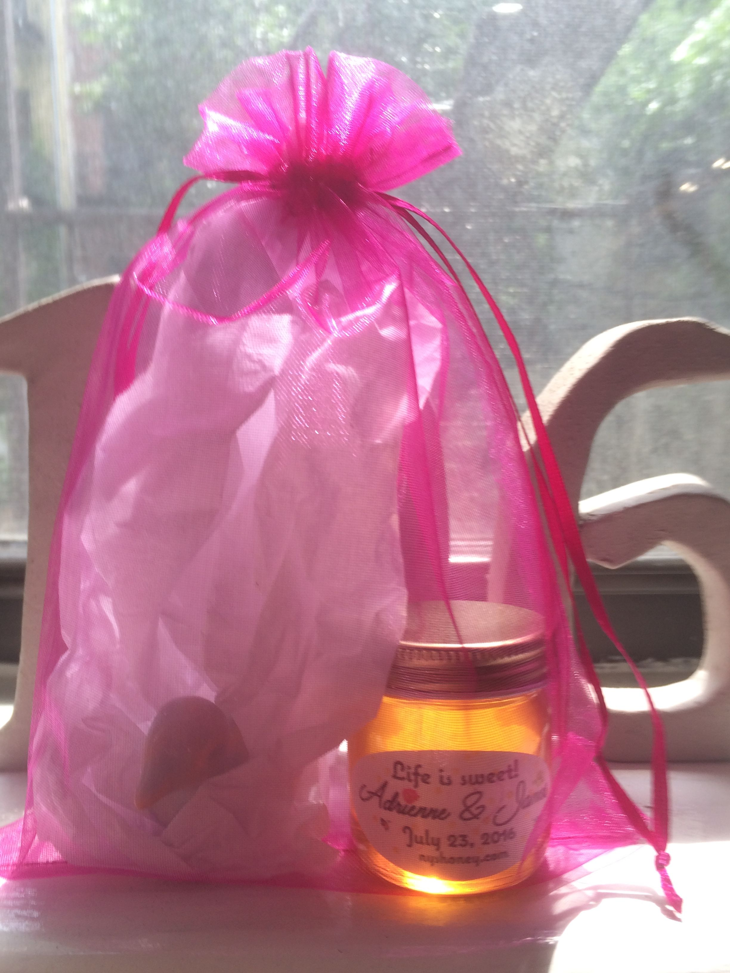 Our favors, local honey and a little blue love bird! | Wedding ...