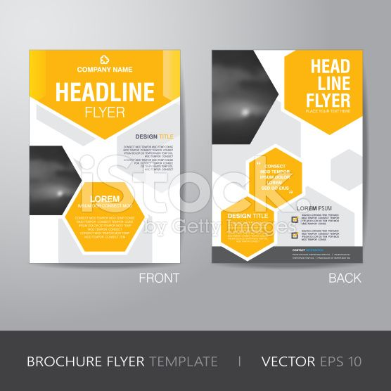 corporate hexagonal brochure flyer design layout template in a4 size