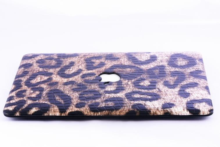 "Fashion Leopard Print Rugged Crocodile Grain Synthetic Leather Anti-fingerprint Hard Shell Cover Case for Macbook Air/Pro/Retina 11"" 13"" 15"""
