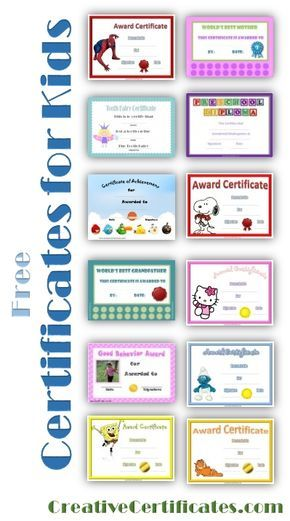 Free printable certificates for kids PPE Pinterest Free - Free Printable Perfect Attendance Certificate