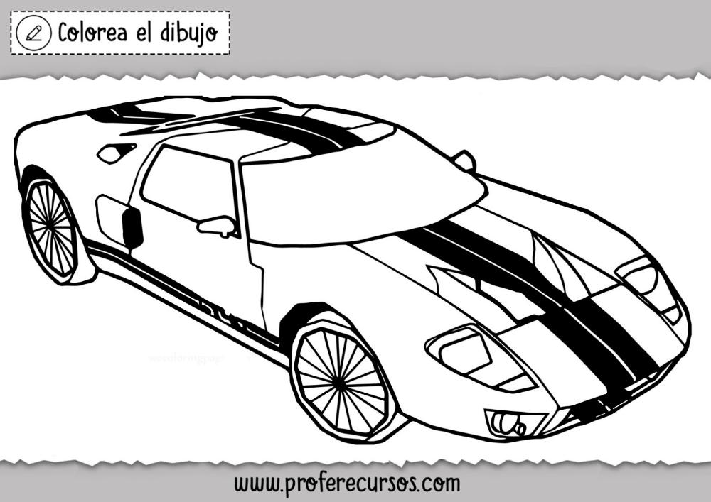 Dibujos De Carros De Carreras Para Colorear Profe Recursos Carro Dibujo Dibujos Dibujos De Coches