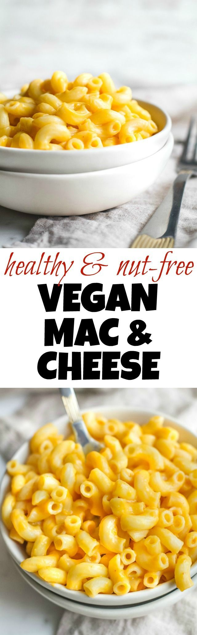 Vegan Mac & Cheese A vegan mac & cheese that's smooth, creamy, nut-free, and made with simple healthy ingredients! The versatile cheesy sauce tastes and feels so authentic that it's guaranteed to be loved by vegans and non-vegans alike. Suitable for those following dairy-free, nut-free, gluten-free, vegan, and paleo diets. |