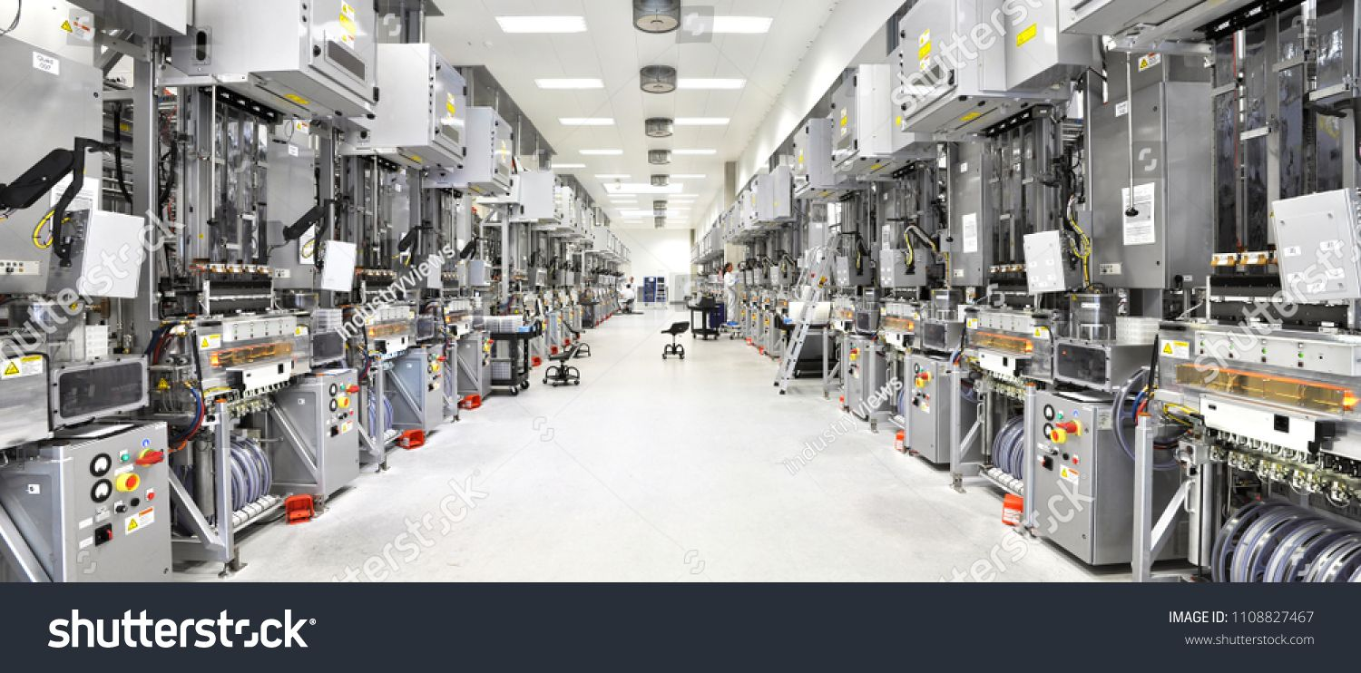 Modern Hi Tech Factory For The Production Of Solar Cells Machines And Interior Sponsored Ad Factory Production M In 2020 Modern Tech Solar
