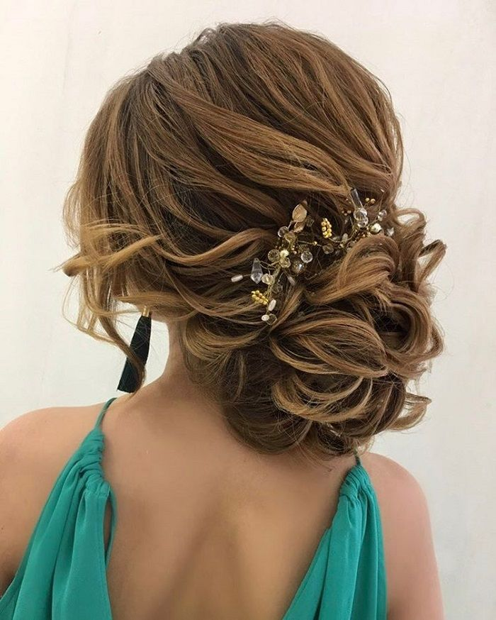 Loose Wedding Hairstyles: Drop-dead Gorgeous Loose Updo Wedding Hairstyle For You To