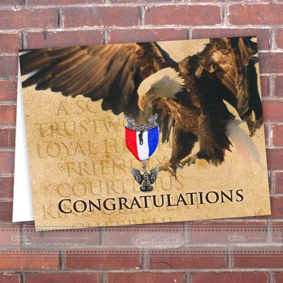 picture relating to Eagle Scout Congratulations Card Printable named fast obtain Eagle Scout congratulations card by way of