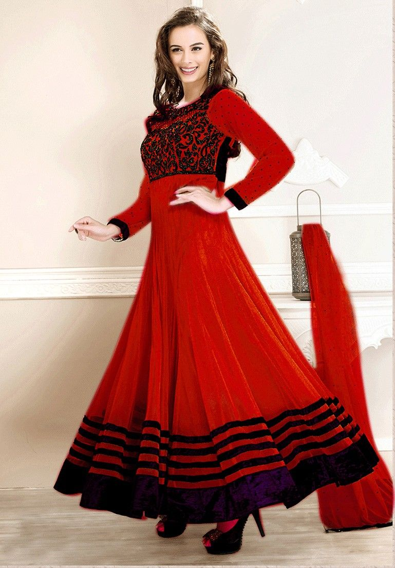 Adorn Red Net Anarkali Suit | Suits, Anarkali and Anarkali suits