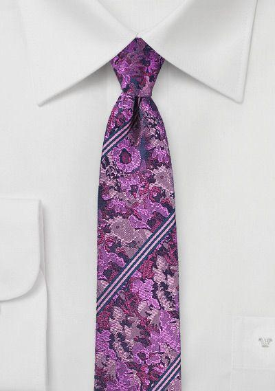 Striped Floral Design Tie In Violet Cheap Neckties Com Purple Floral Ties Mens Fashion Bow Tie Wedding