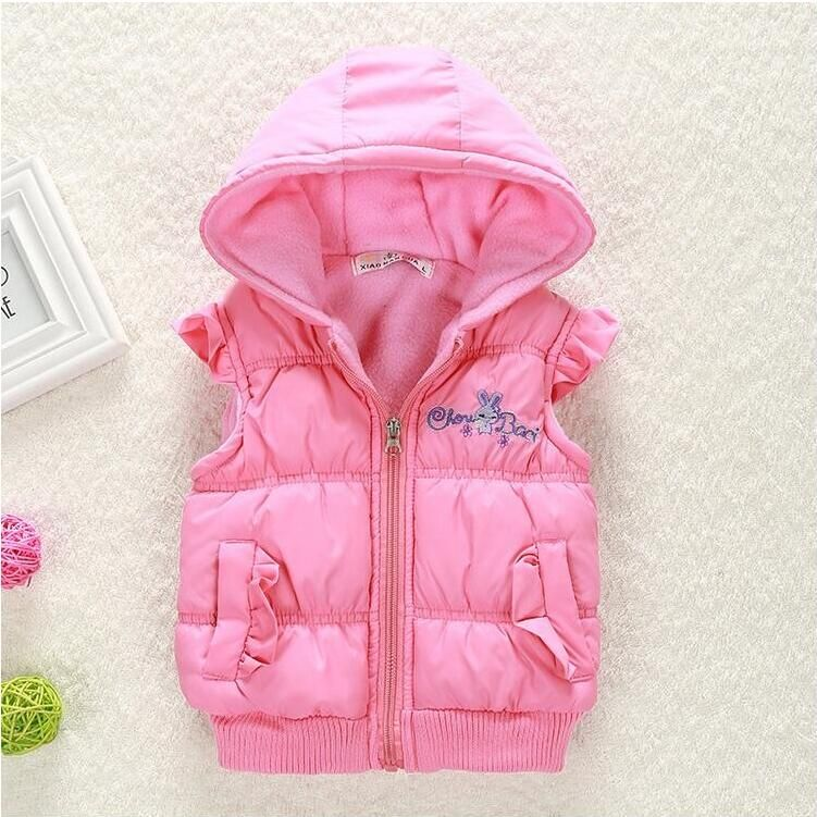 Infant Boys Girls Cartoon Jackets Printed Baby Warm Vest Waistcoat Coat