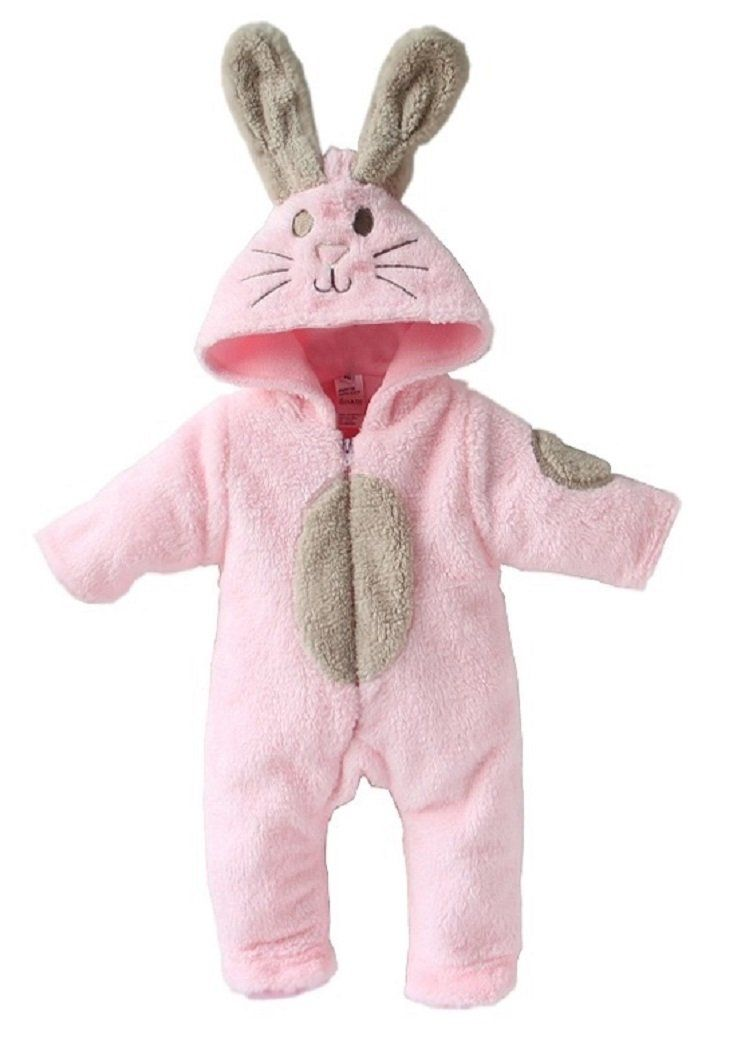 316c50359 A168® Baby Boy Girl Cute Bunny Animal Fluffy Rabbit Fleece Romper ...