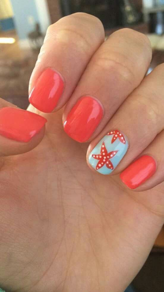 Cute Coral Summer Nails Whats Your Favorite Summer Color Nails