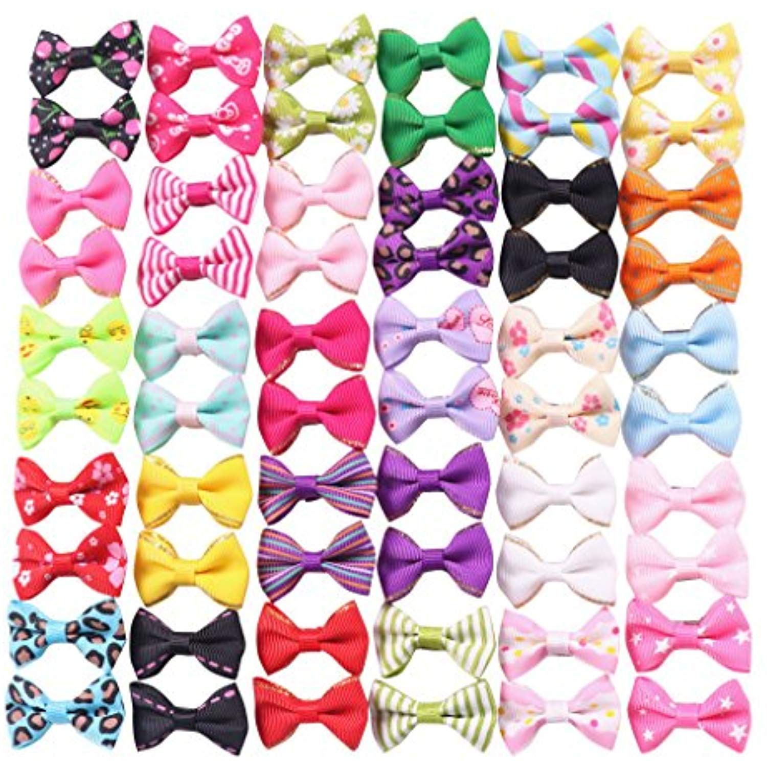 Yaka pcs pairs cute puppy dog small bowknot hair bows with