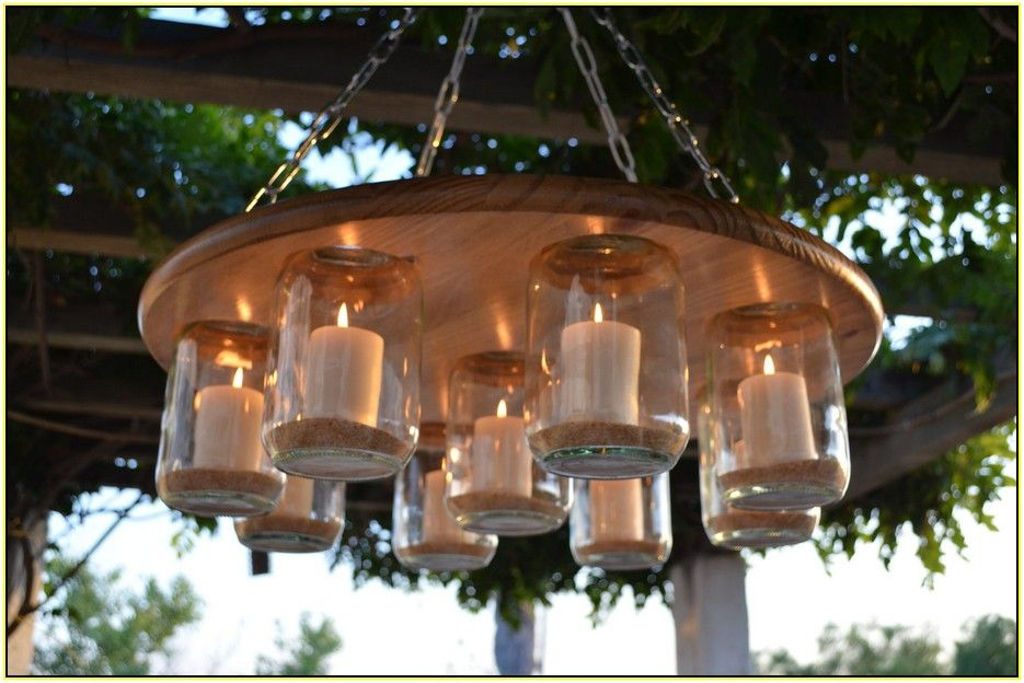Hanging Candle Chandelier Outdoor & Hanging Candle Chandelier Outdoor | Home Decor | Pinterest | Outdoor ...