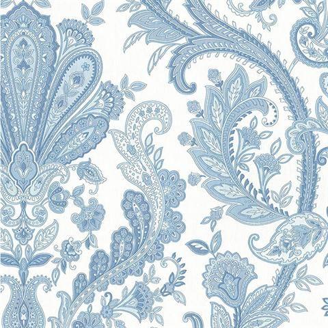 MD29431 Dark Blue, Light Blue, Pearl, White Jacobean