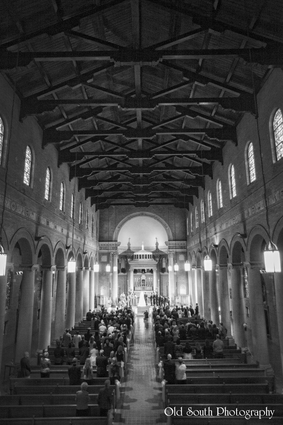 Ceremony shot St. John's Catholic Church in Plaquemine