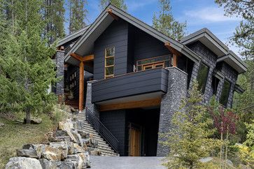 Modern Home Exterior Wood black houses - home exterior paint ideas | wood trim, exterior and
