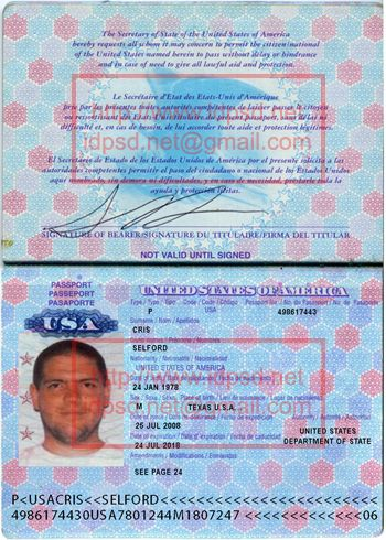 United States Usa Passport Psd Template United States Usa