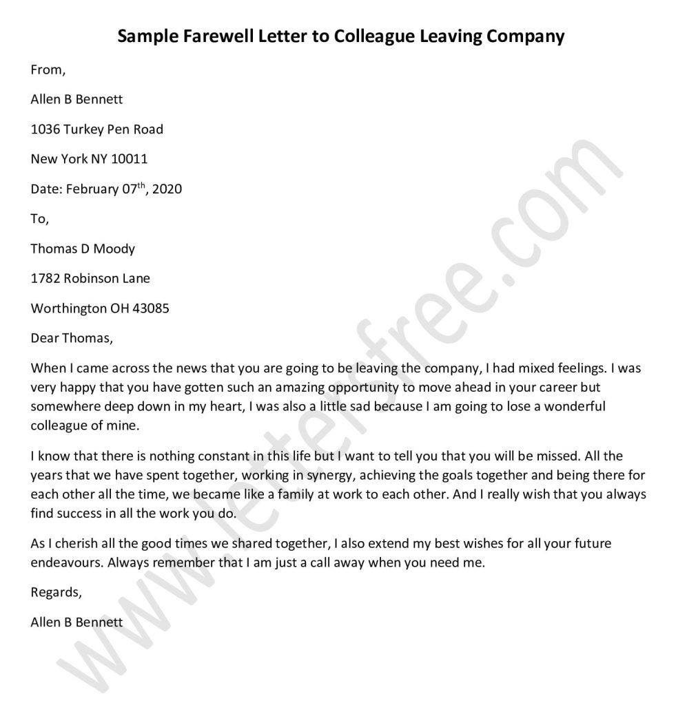 Farewell Letter To Colleague Leaving Company Farewell Letter To Colleagues Lettering Colleagues
