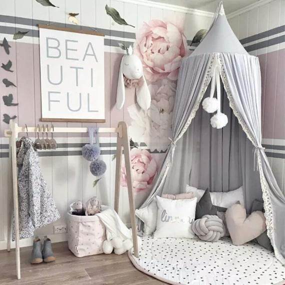 Photo of Simple Nordic Style Chiffon Laciness Children's Bed Mosquito Net Home Textile For Baby princess room Home Textiles