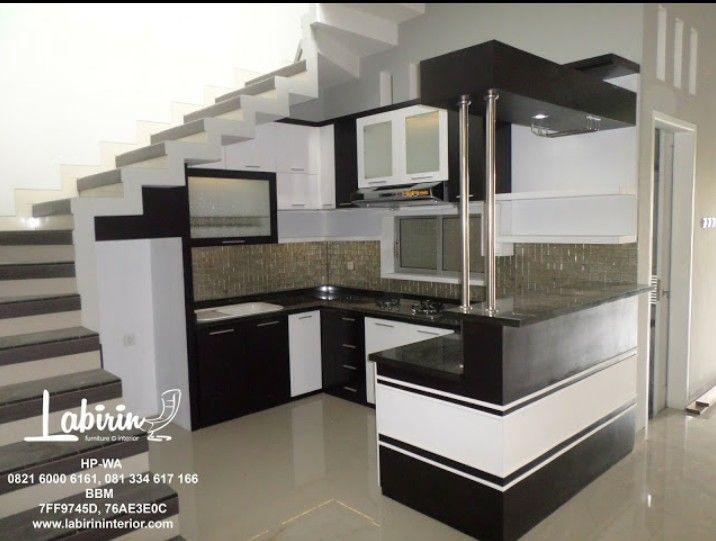 Konsep Dapur Dengan Nuansa Black And White Diterapkan Pada